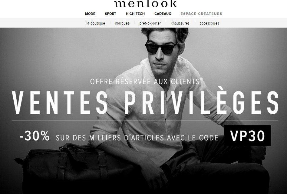 Menlook est en Vente Privée !