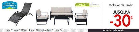 vente privee mobilier de jardin rue du commerce