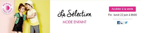 vente privee mode enfant