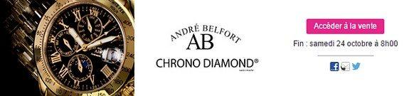vente privee montres andre belfort et chrono diamond