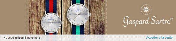 vente privee montres gaspard sartre