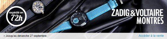 vente privee montres homme et femme zadig et voltaire