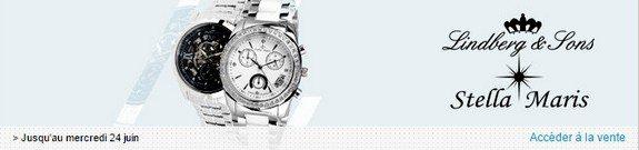 vente privee montres lindberg and sons stella maris