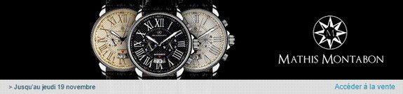 vente privee montres mathis montabon homme et femme