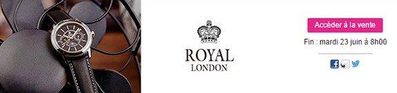 vente privee montres royal london