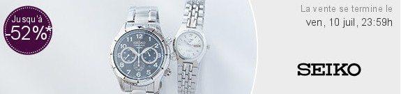 vente privee montres seiko homme femme