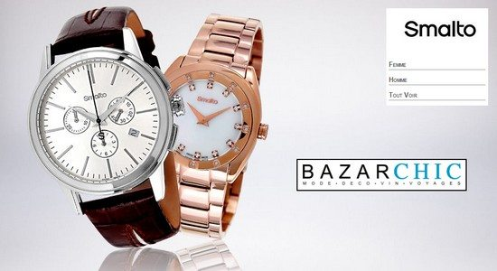 vente privee montres smalto homme femme