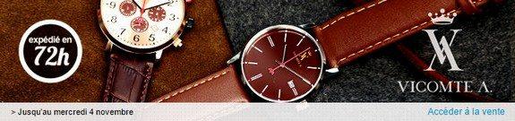 vente privee montres vicomte a novembre 2015