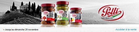 vente privee nourriture polli sauces antipasti tartinables