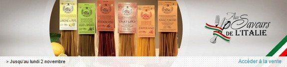 vente privee nourriture saveurs italiennes