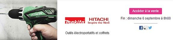 vente privee outils hitachi makita