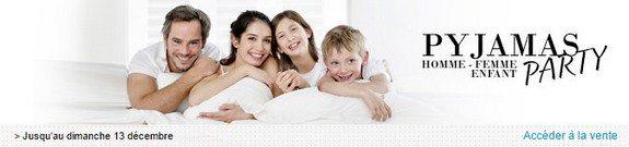 vente privee pyjamas homme femme enfant