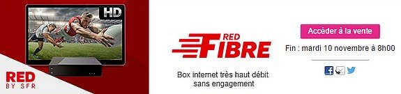 vente privee red fibre box internet tres haut debit sans engagement