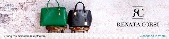 vente privee sacs femme renata corsi