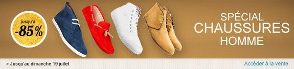 vente privee special chaussures homme
