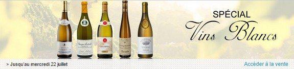 vente privee special vins blancs