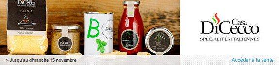 vente privee specialites italiennes nourriture marque casa dicecco