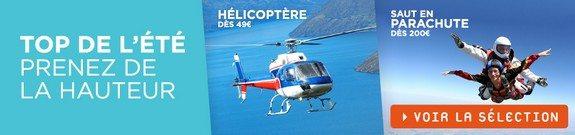 vente privee sports aeriens helicoptere parachute