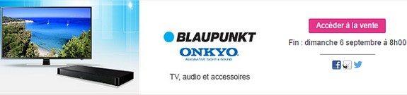 vente privee tv enceintes ecouteurs supports muraux telecommandes antennes blaupunkt onkyo