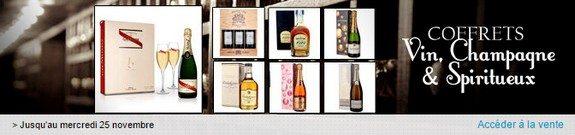 vente privee vin champagne et spiritueux en coffrets