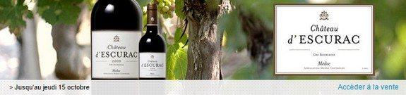 vente privee vin chateau d escurac