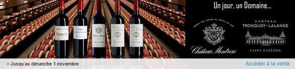 vente privee vin chateau montrose chateau tronquoy lalande