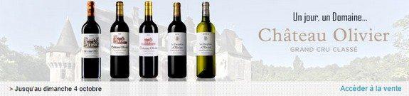 vente privee vin chateau olivier pessac leognan