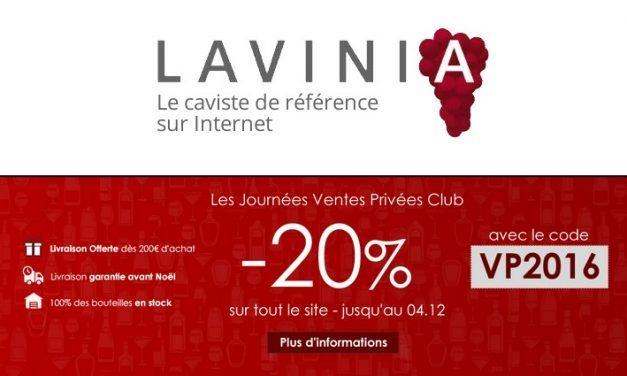 -20% Aujourd'hui seulement! Vente Privée de Vins et Champagnes chez Lavinia