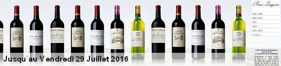 vente privee vin rouge blanc pessac leognan