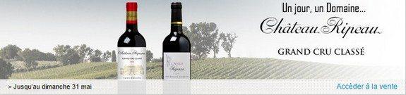 vente privee vin rouge chateau ripeau