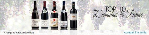 vente privee vin top 10 domaines de france