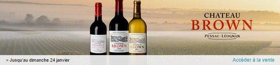 vente privee vins chateau brown pessac leognan