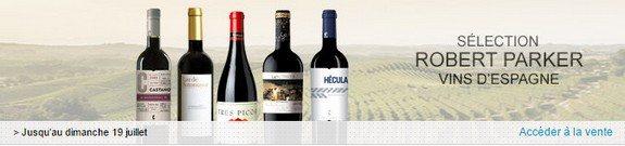vente privee vins espagne robert parker