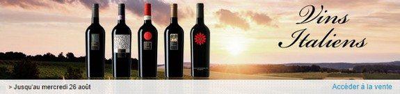 vente privee vins italiens