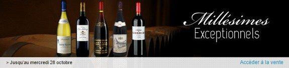 vente privee vins millesimes exceptionnels octobre 2015