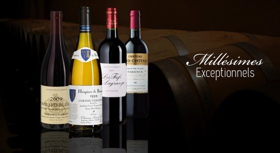 vente privee vins millesimes exceptionnels
