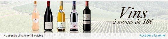 vente privee vins pas chers en dessous de 10 euros