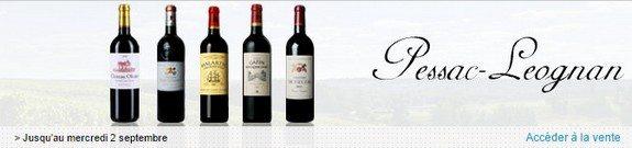 vente privee vins pessac leognan