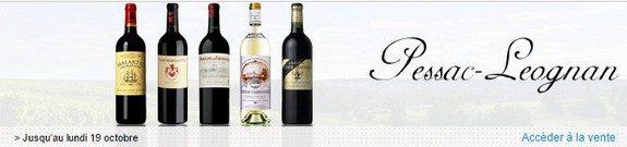 vente privee vins rouges et blancs pessac leognan