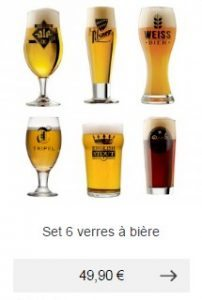 verres a biere idee cadeau homme