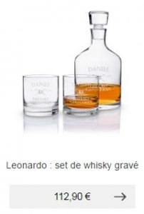 verres carafe whisky personnlisable degustation idee cadeau homme