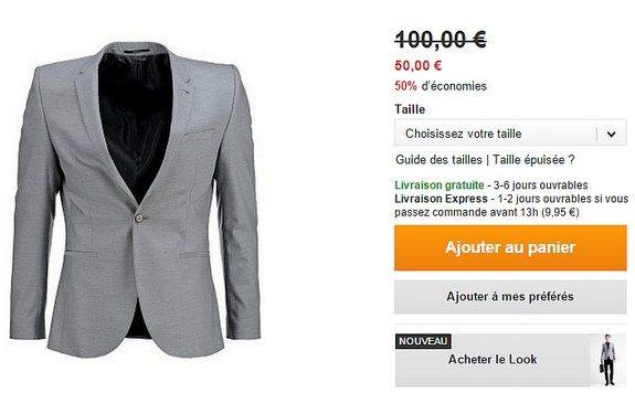 veste de costume grise selected soldes homme zalando